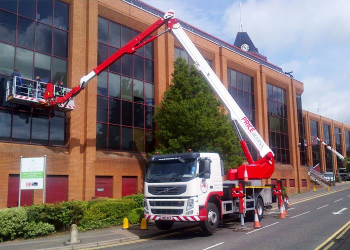Different sizes of access platforms available including Bronto platforms